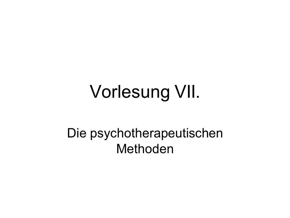 Die psychotherapeutischen Methoden