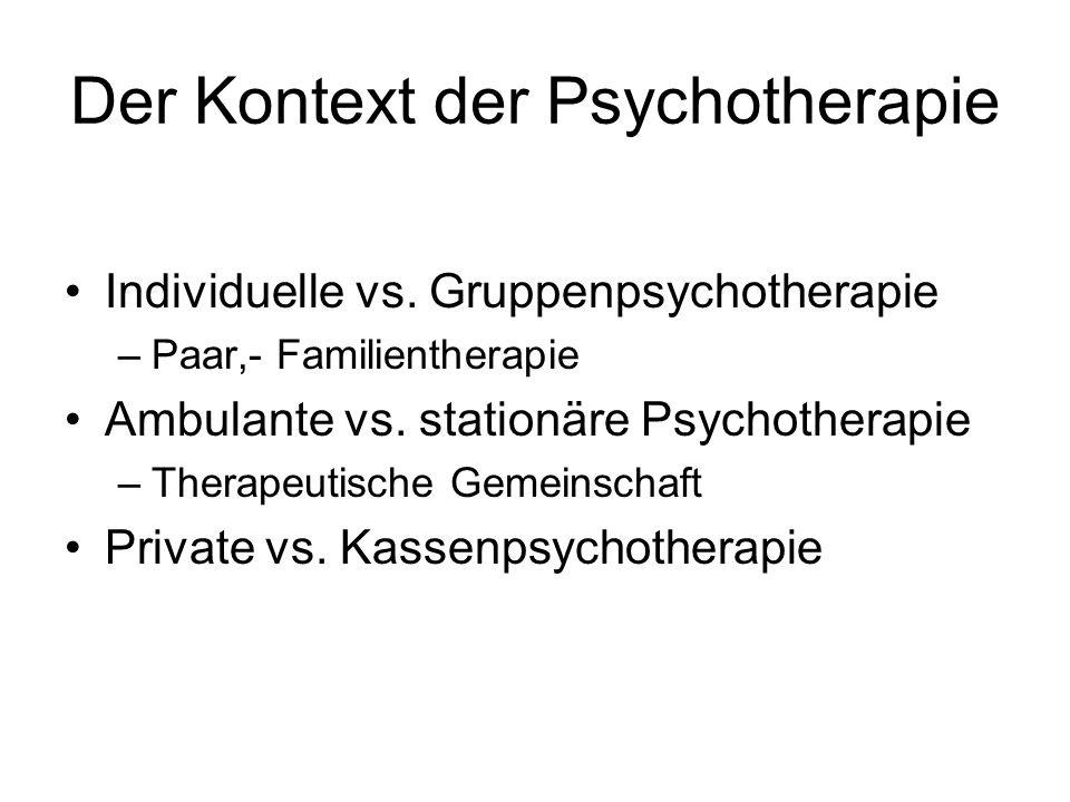 Der Kontext der Psychotherapie
