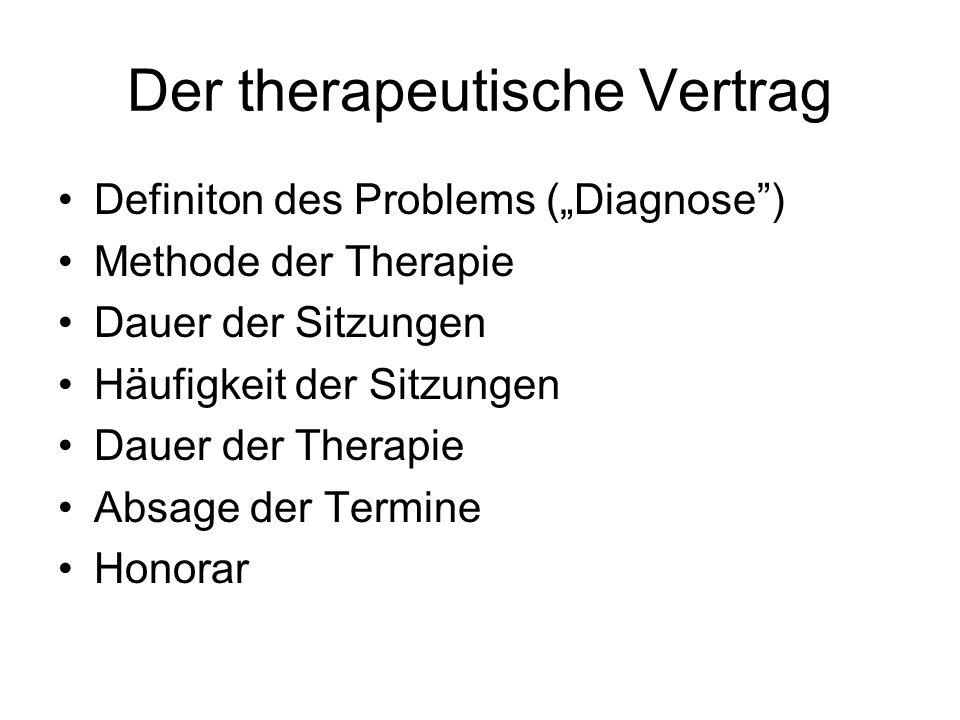 Der therapeutische Vertrag