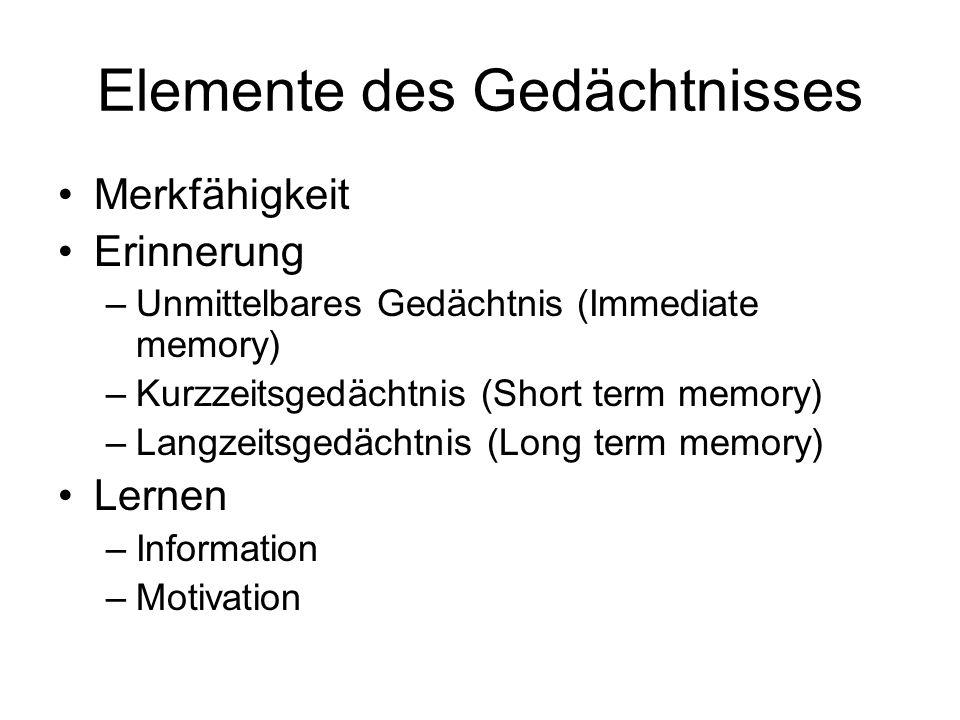 Elemente des Gedächtnisses