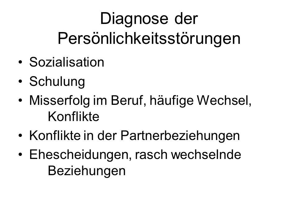 Diagnose der Persönlichkeitsstörungen
