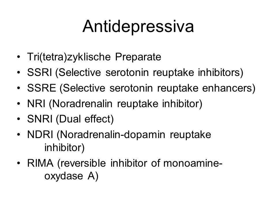 Antidepressiva Tri(tetra)zyklische Preparate