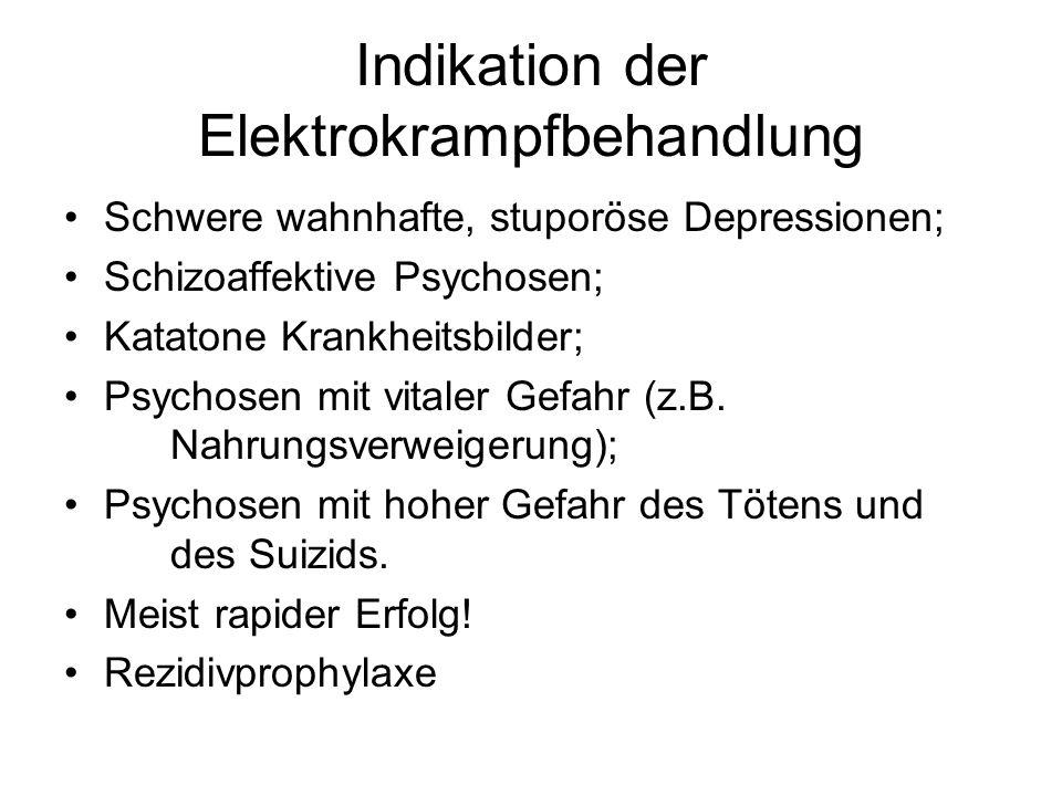 Indikation der Elektrokrampfbehandlung