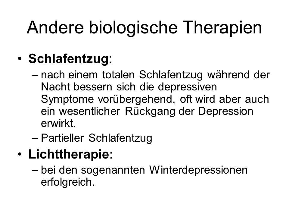 Andere biologische Therapien