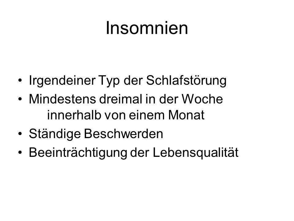 Insomnien Irgendeiner Typ der Schlafstörung