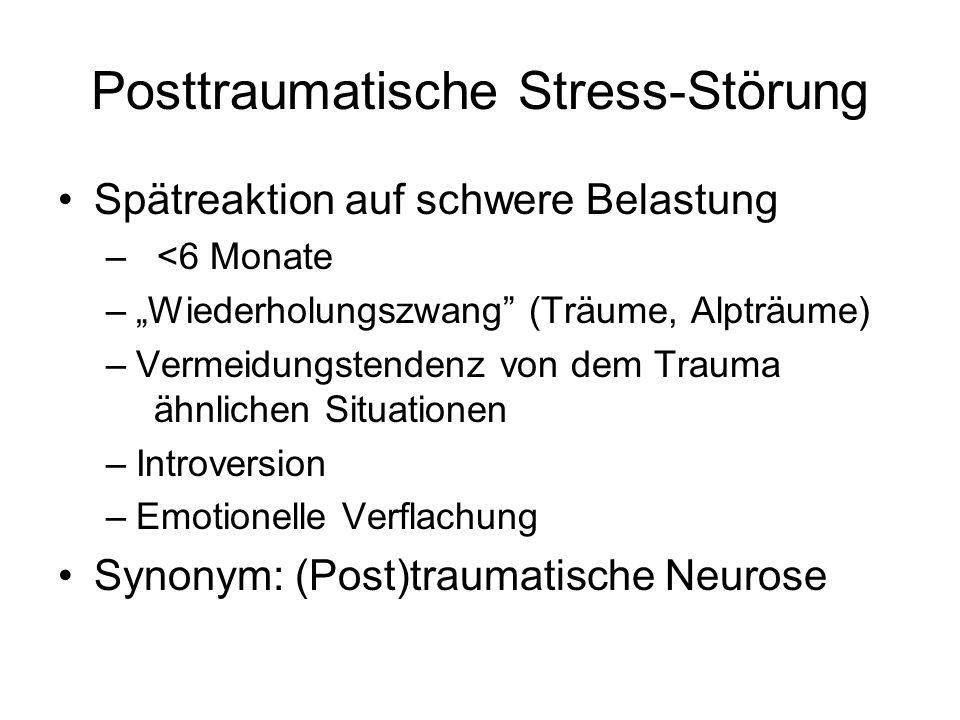 Posttraumatische Stress-Störung