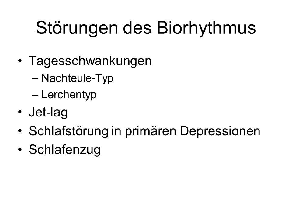 Störungen des Biorhythmus