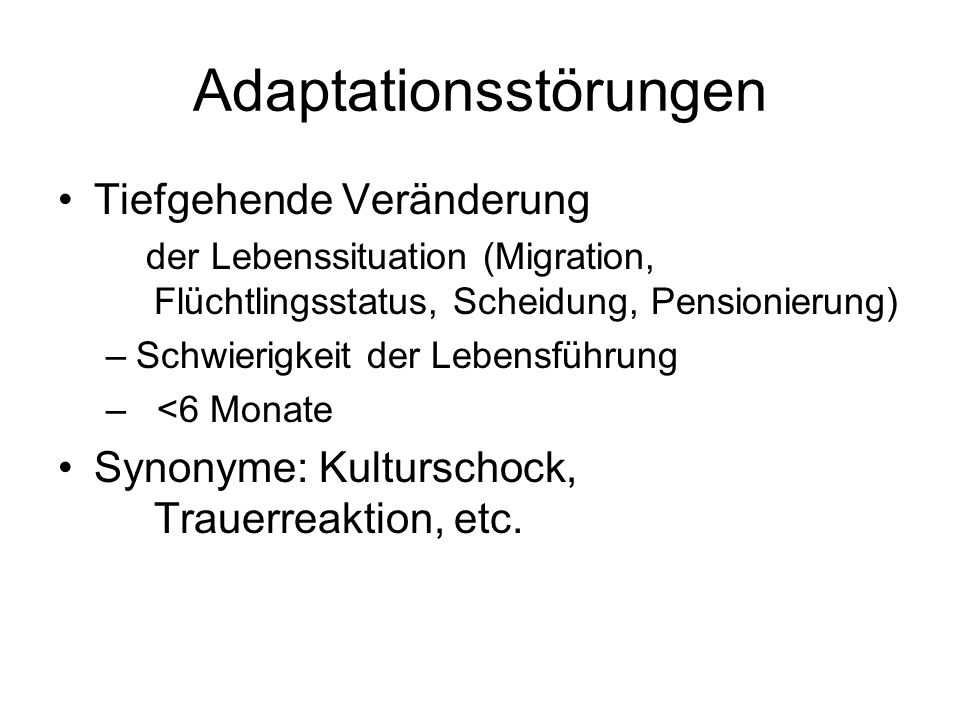 Adaptationsstörungen