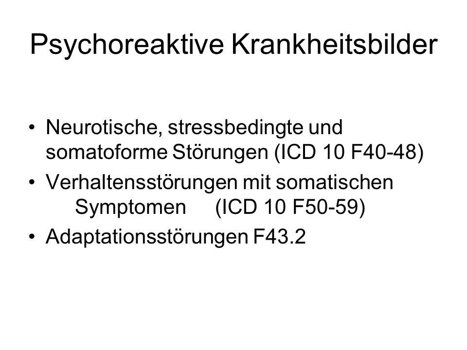 Psychoreaktive Krankheitsbilder
