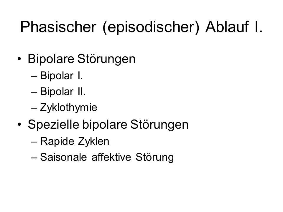 Phasischer (episodischer) Ablauf I.