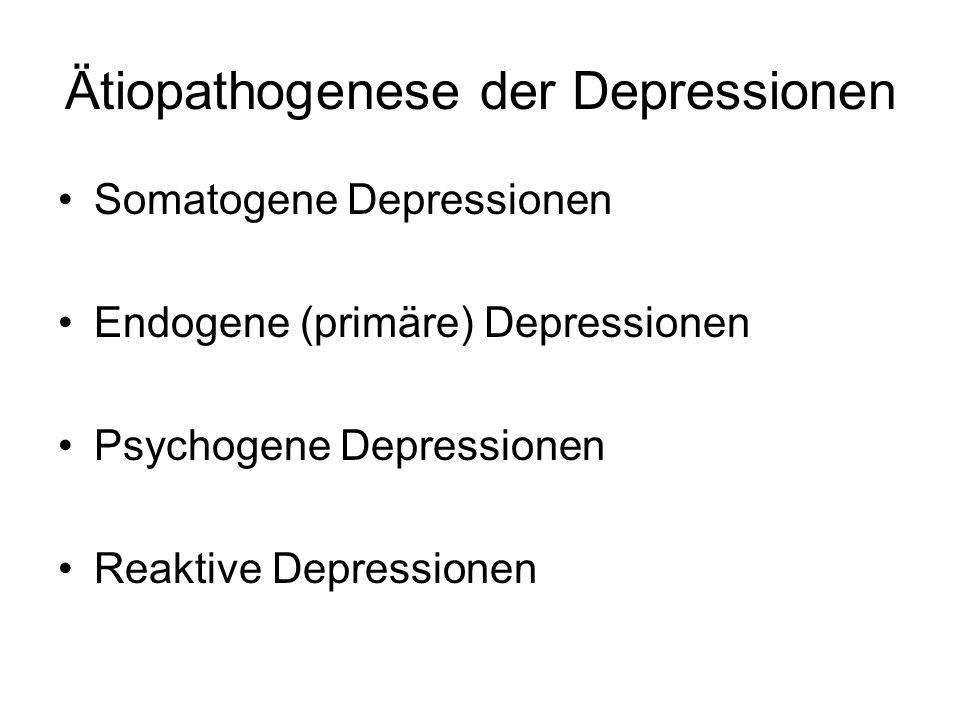 Ätiopathogenese der Depressionen