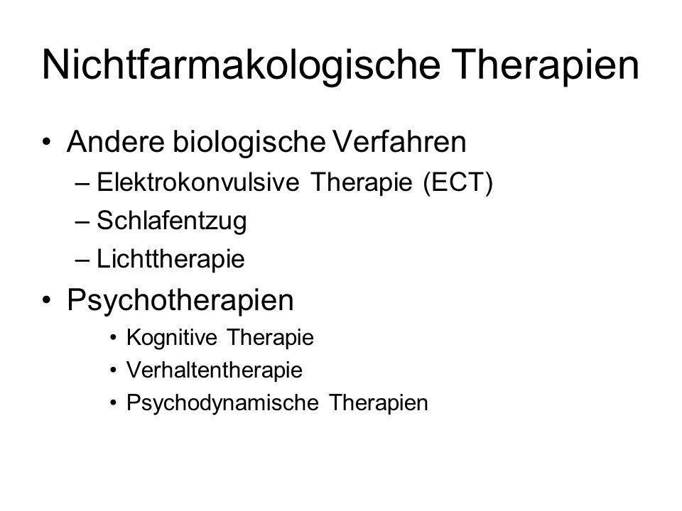 Nichtfarmakologische Therapien