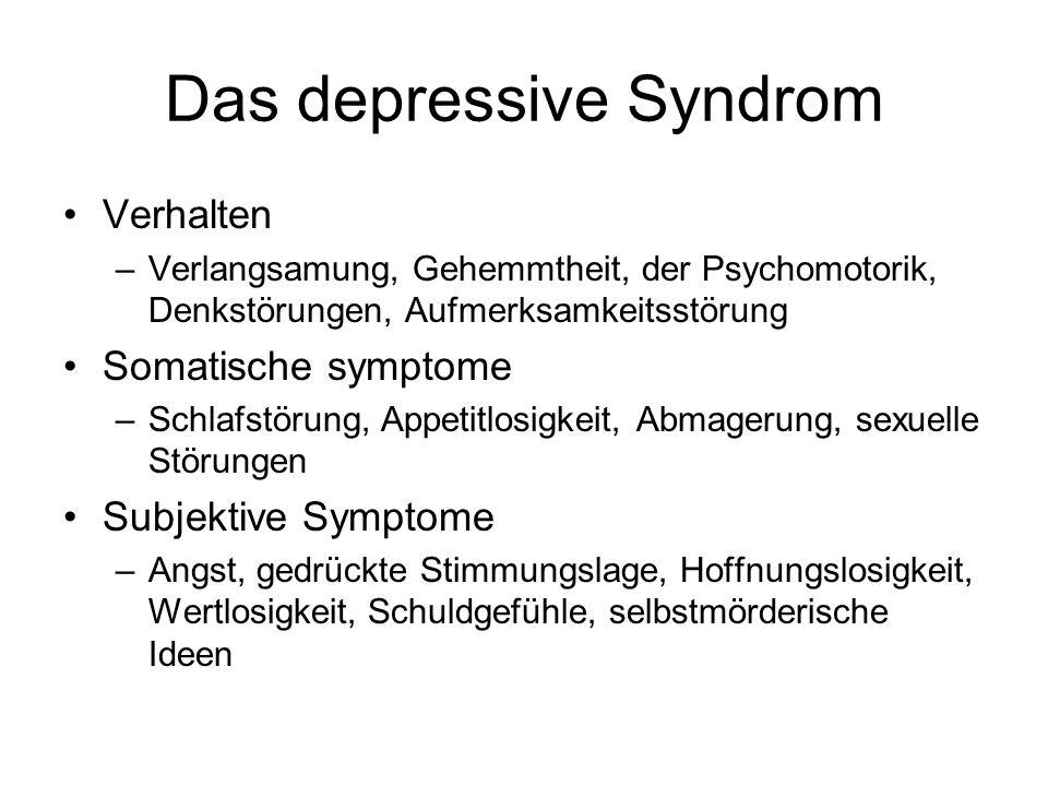 Das depressive Syndrom