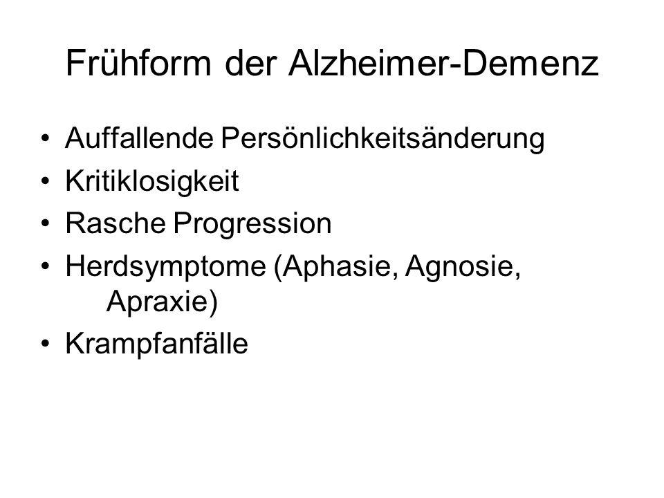 Frühform der Alzheimer-Demenz