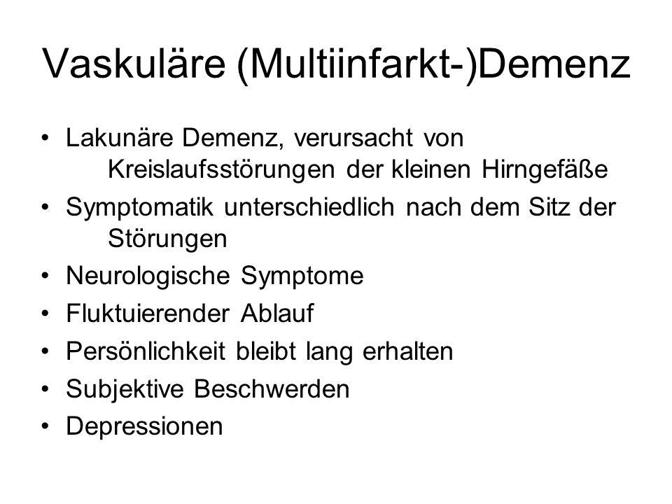 Vaskuläre (Multiinfarkt-)Demenz