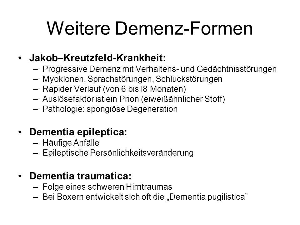 Weitere Demenz-Formen