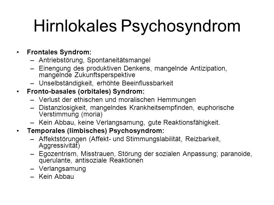 Hirnlokales Psychosyndrom
