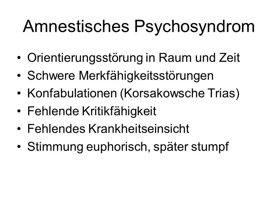 Amnestisches Psychosyndrom