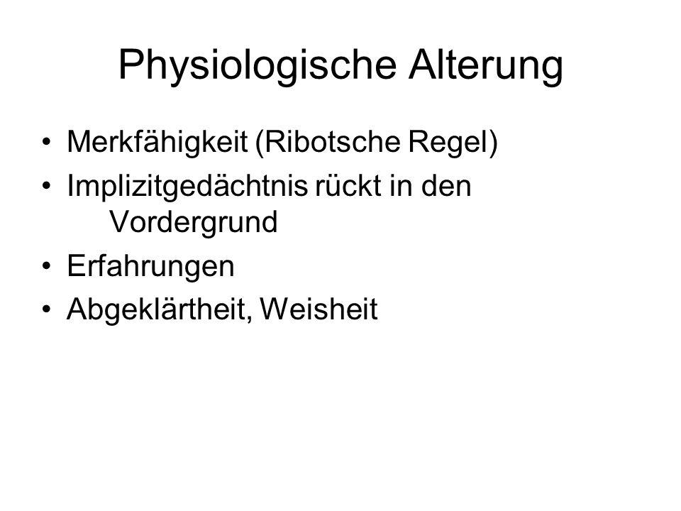 Physiologische Alterung