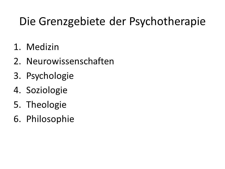 Die Grenzgebiete der Psychotherapie
