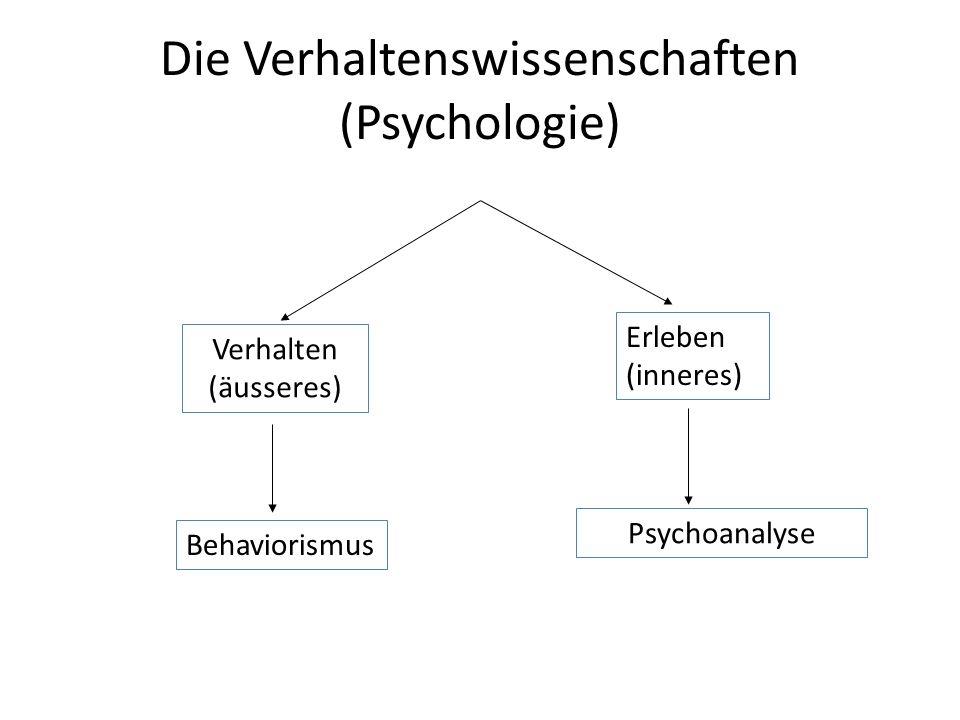 Die Verhaltenswissenschaften (Psychologie)