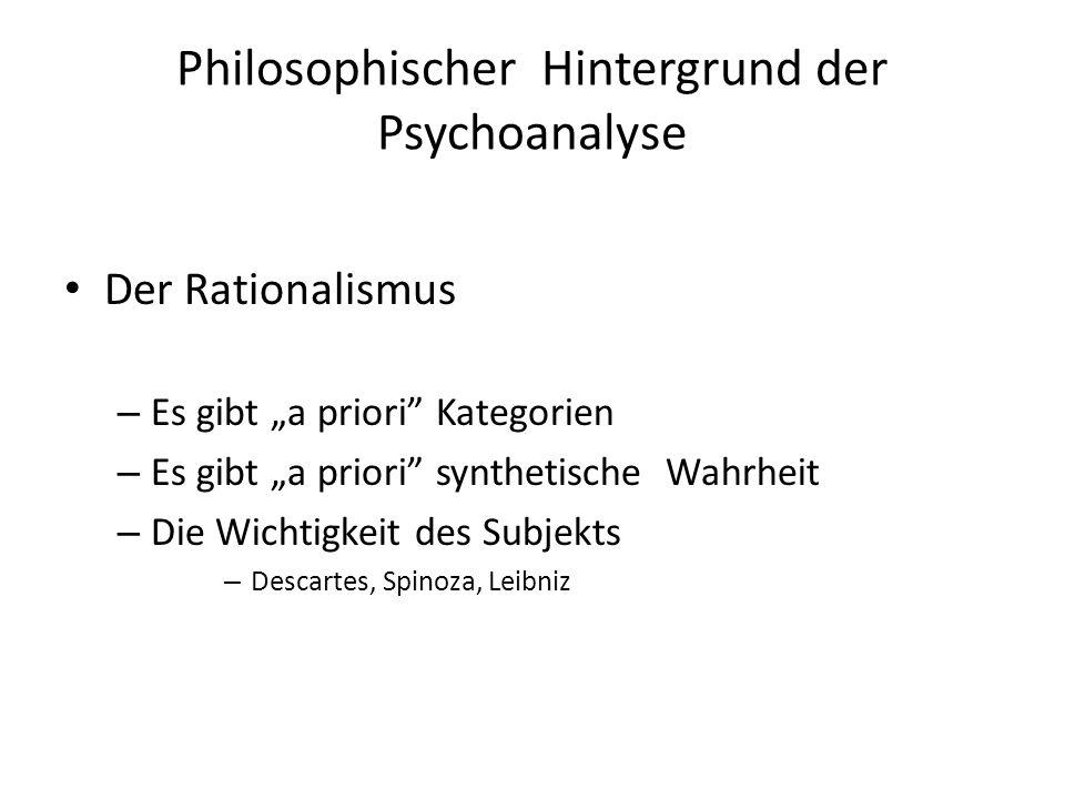 Philosophischer Hintergrund der Psychoanalyse