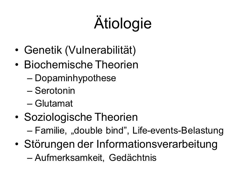 Ätiologie Genetik (Vulnerabilität) Biochemische Theorien