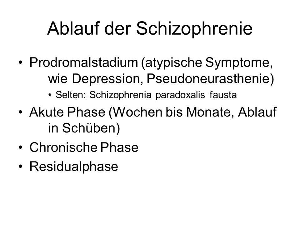Ablauf der Schizophrenie