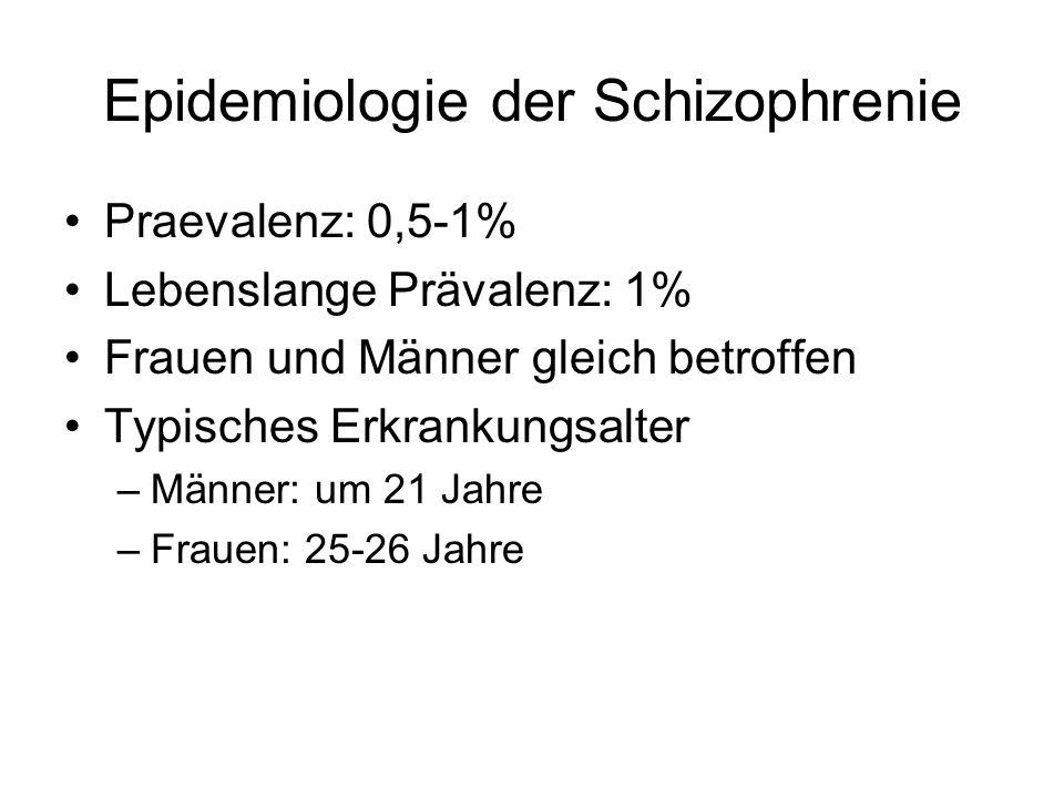 Epidemiologie der Schizophrenie