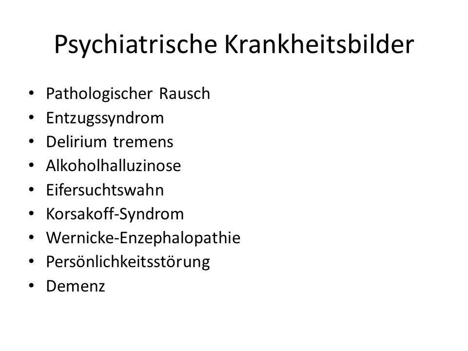 Psychiatrische Krankheitsbilder