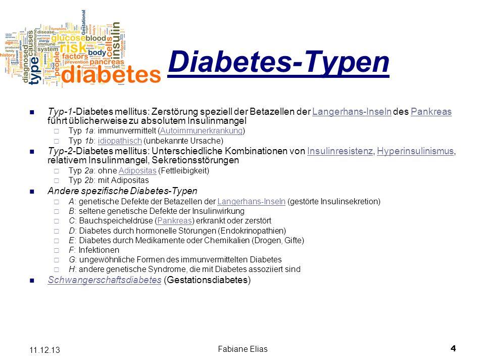 Diabetes-Typen