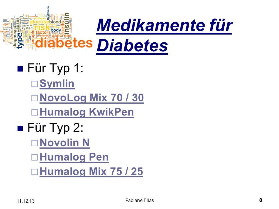 Medikamente für Diabetes