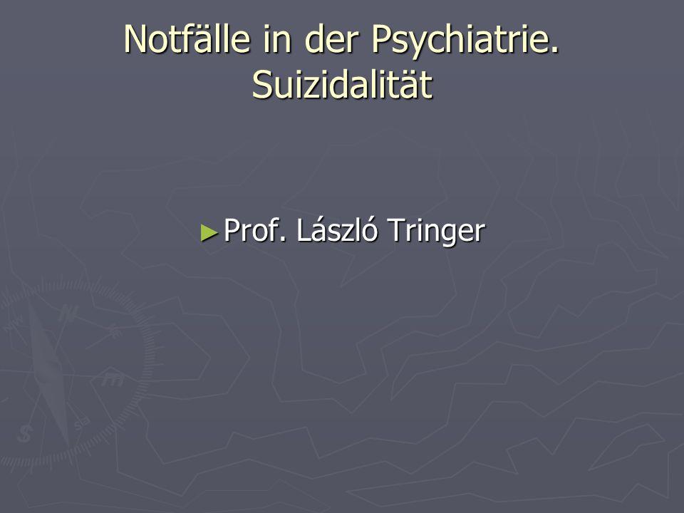 Notfälle in der Psychiatrie. Suizidalität