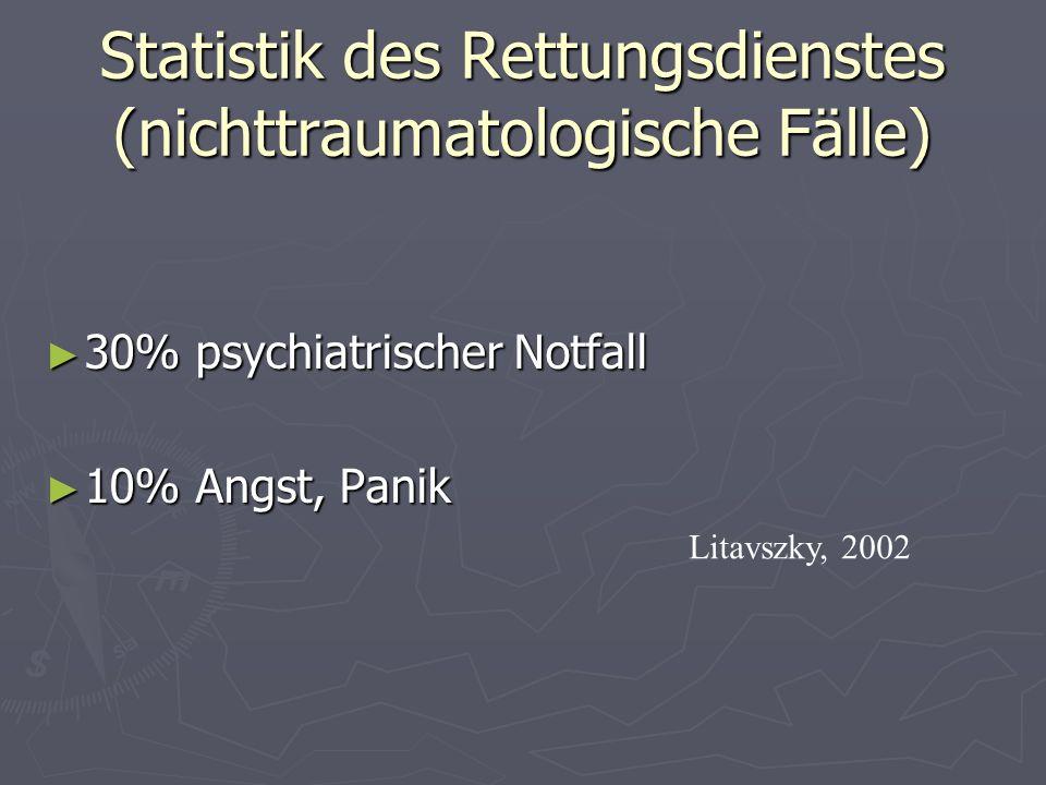 Statistik des Rettungsdienstes (nichttraumatologische Fälle)