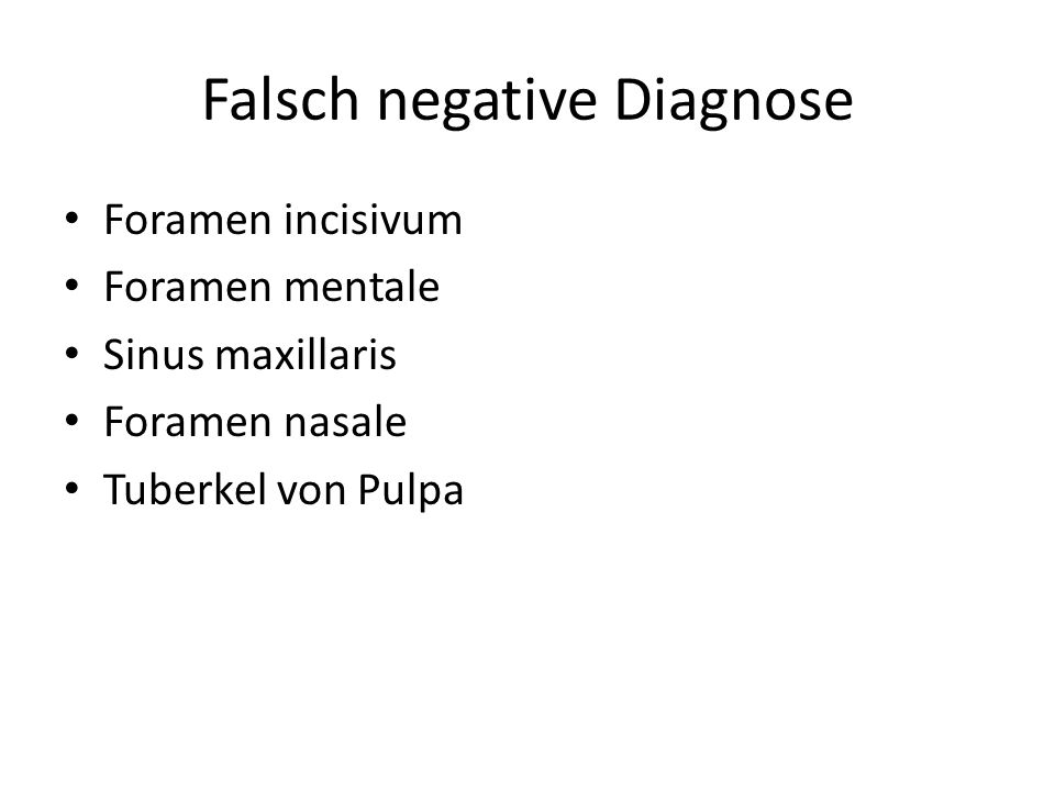 Falsch negative Diagnose