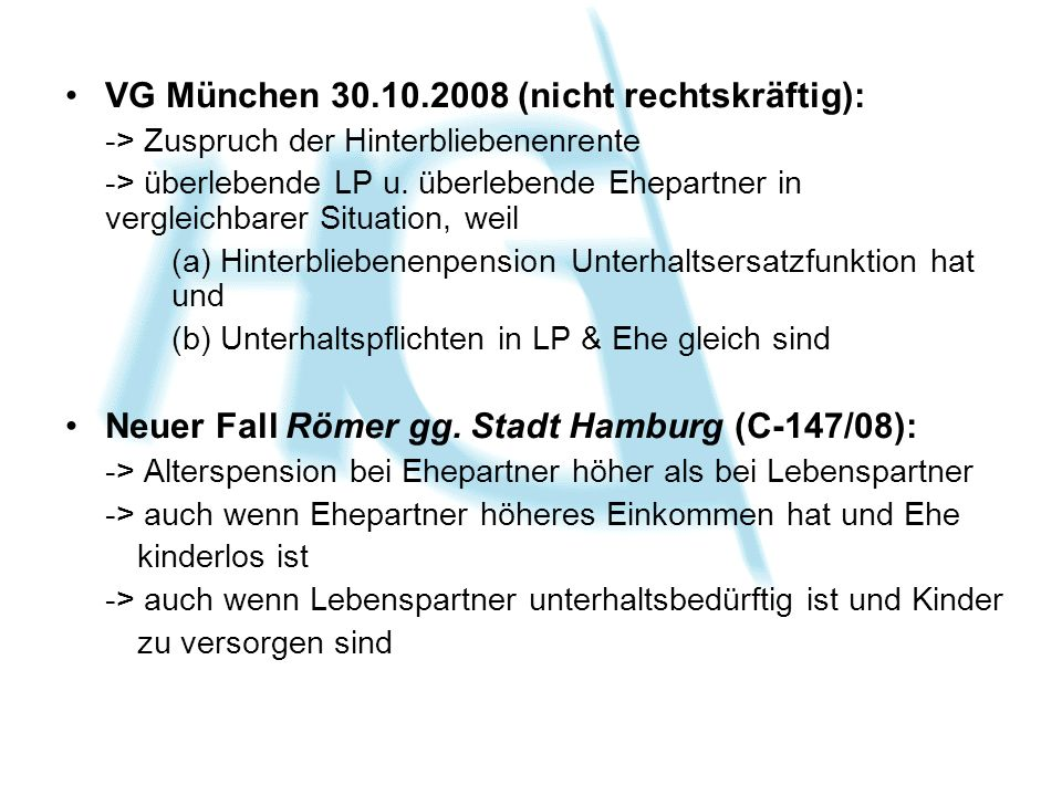 VG München 30.10.2008 (nicht rechtskräftig):