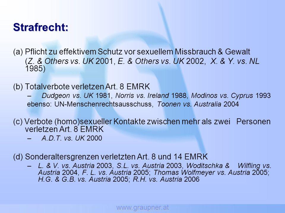 www.graupner.at Strafrecht: Pflicht zu effektivem Schutz vor sexuellem Missbrauch & Gewalt.