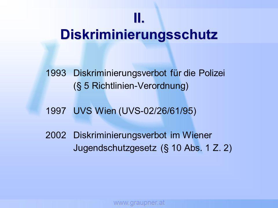 II. Diskriminierungsschutz