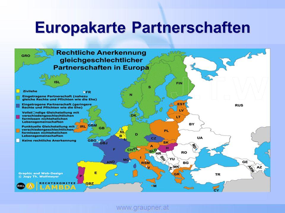 Europakarte Partnerschaften