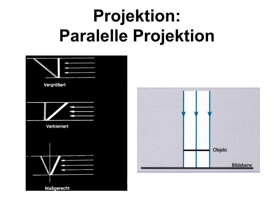 Projektion: Paralelle Projektion
