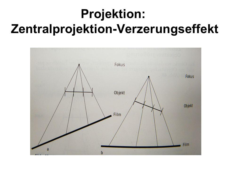 Projektion: Zentralprojektion-Verzerungseffekt