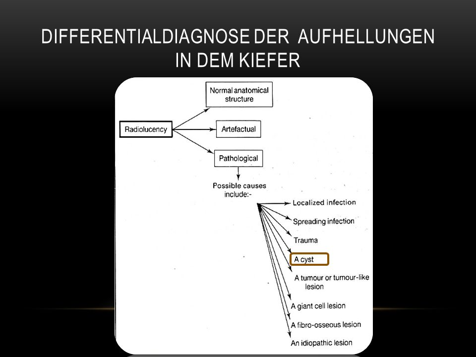 Differentialdiagnose der Aufhellungen in dem kiefer
