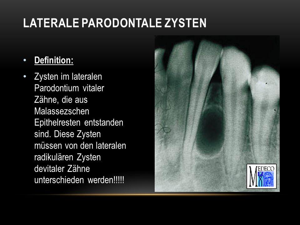 Laterale parodontale Zysten