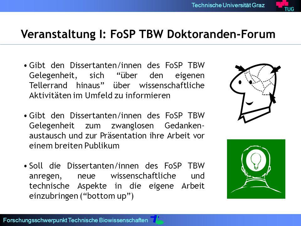 Veranstaltung I: FoSP TBW Doktoranden-Forum