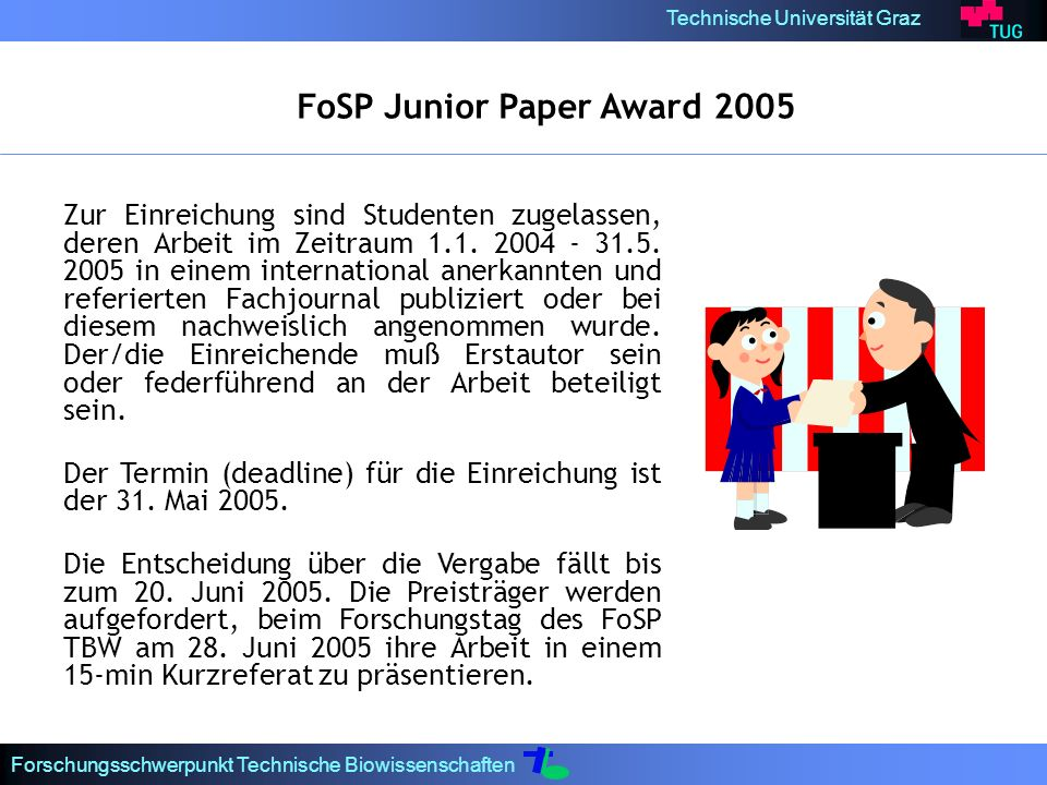 FoSP Junior Paper Award 2005