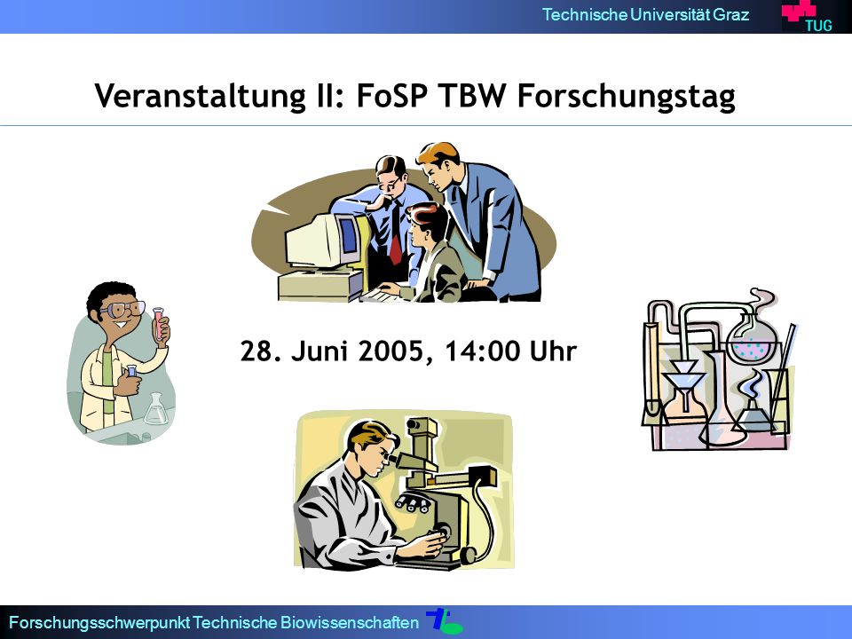 Veranstaltung II: FoSP TBW Forschungstag