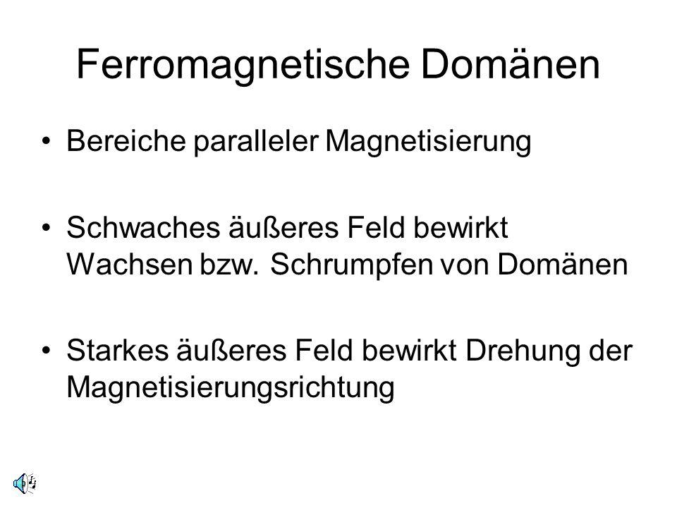 Ferromagnetische Domänen
