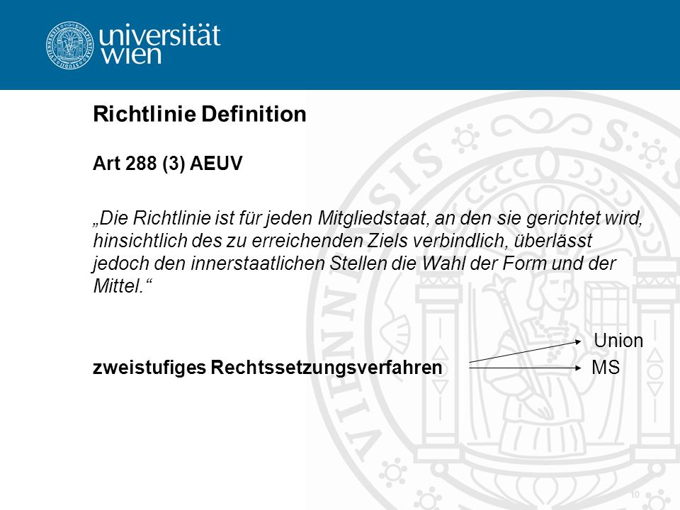 Richtlinie Definition