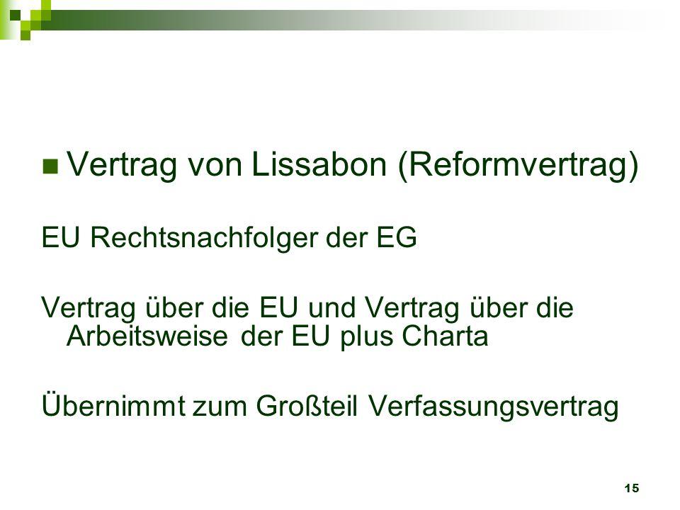 Vertrag von Lissabon (Reformvertrag)