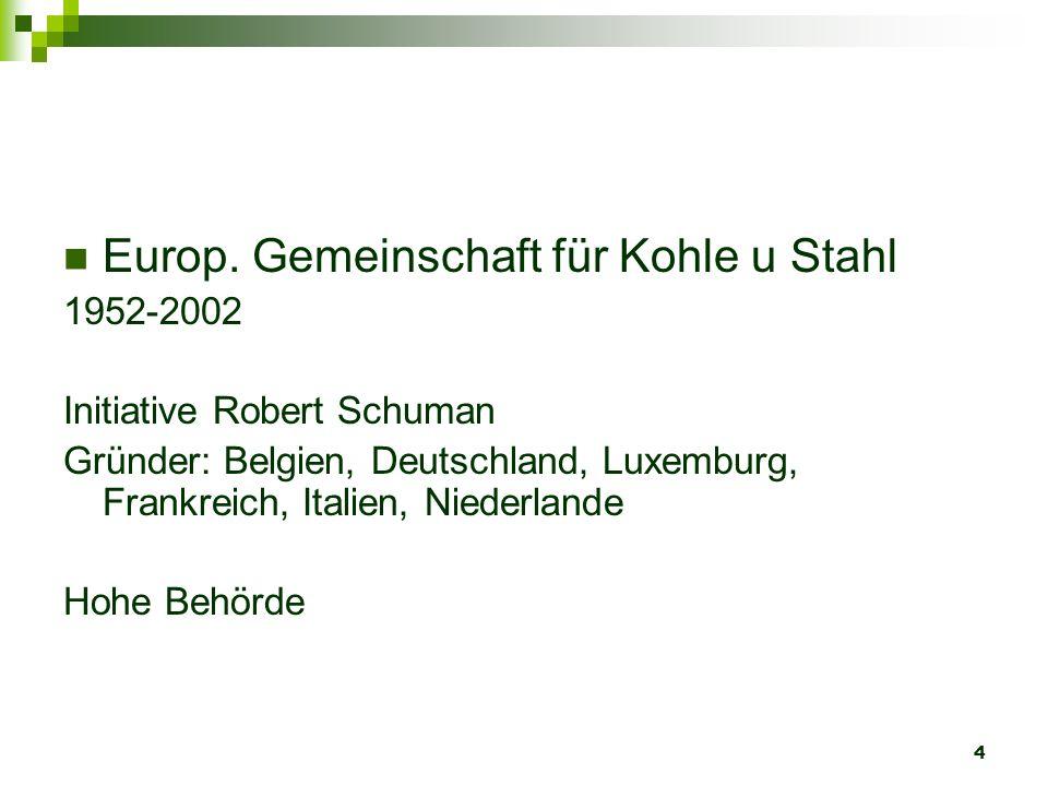 Europ. Gemeinschaft für Kohle u Stahl